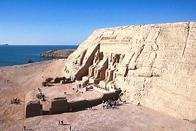 Ramses II's temple from top of Hathor's temple