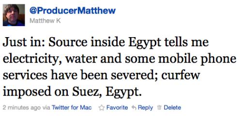 Egitto twitter