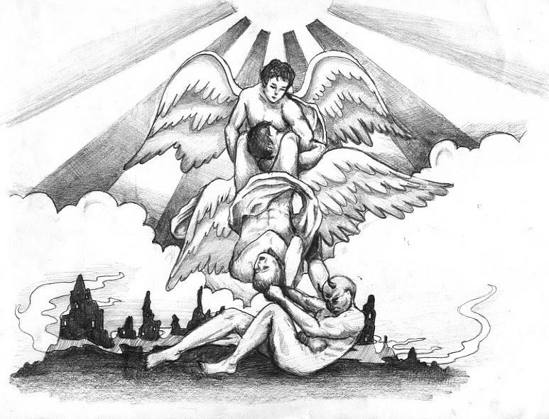 Angel And Demon Tattoos Foot Design Sketch Tattoomagz