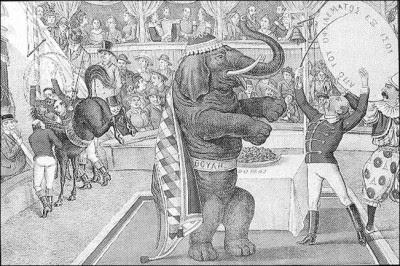 Γελοιογραφική απόδοση της ελληνικής Βουλής στα χρόνια της Συνταγματικής βασιλείας του Γεωργίου Α΄