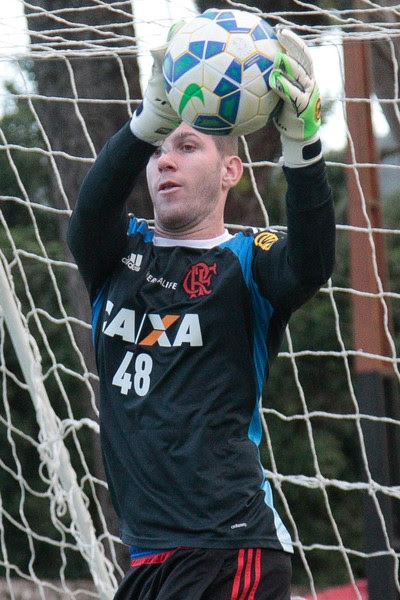 Paulo Victor, Ninho do Urubu, treino, Flamengo (Foto: Gilvan de Souza/ Fla Imagem)