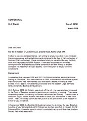 LSO Report on Michael Robson Page 1