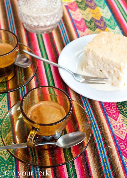 Peruvian espresso and deep passion blend espresso