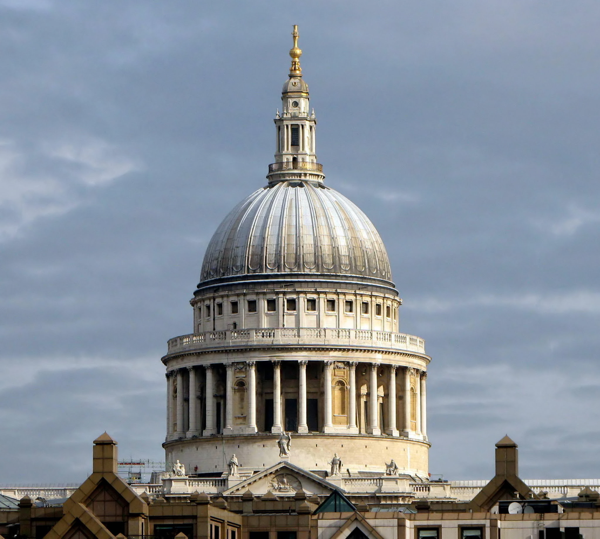 The dome of St. Paul's Cathedral in London, England.