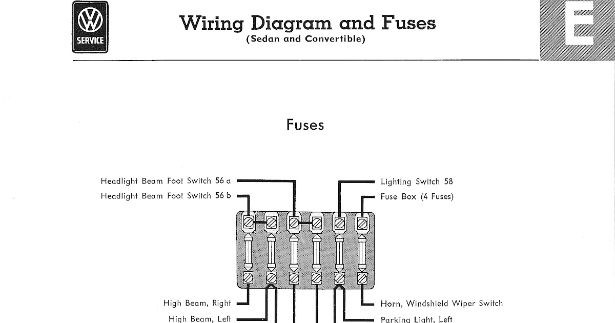 1972 Vw Wire Harnes Schematic