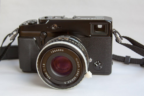 Fuji X-Pro1 with Nikon Series E 50mm ƒ/1.8 lens