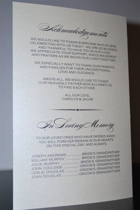 8 best images about Wedding Programs on Pinterest