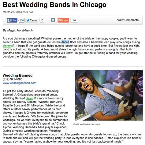 Wedding Banned » Blog Archive » Wedding Banned voted best