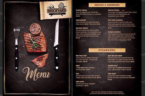 Grill Food Menu template ~ Brochure Templates ~ Creative