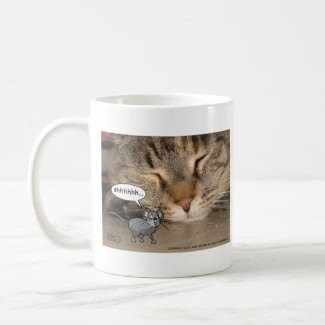 Let sleeping cats lie mug