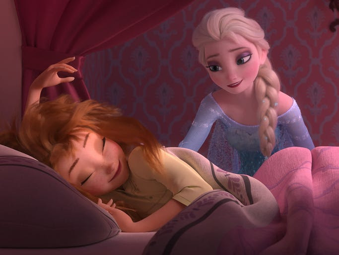 In 'Frozen,' it was Anna trying to wake up her sister