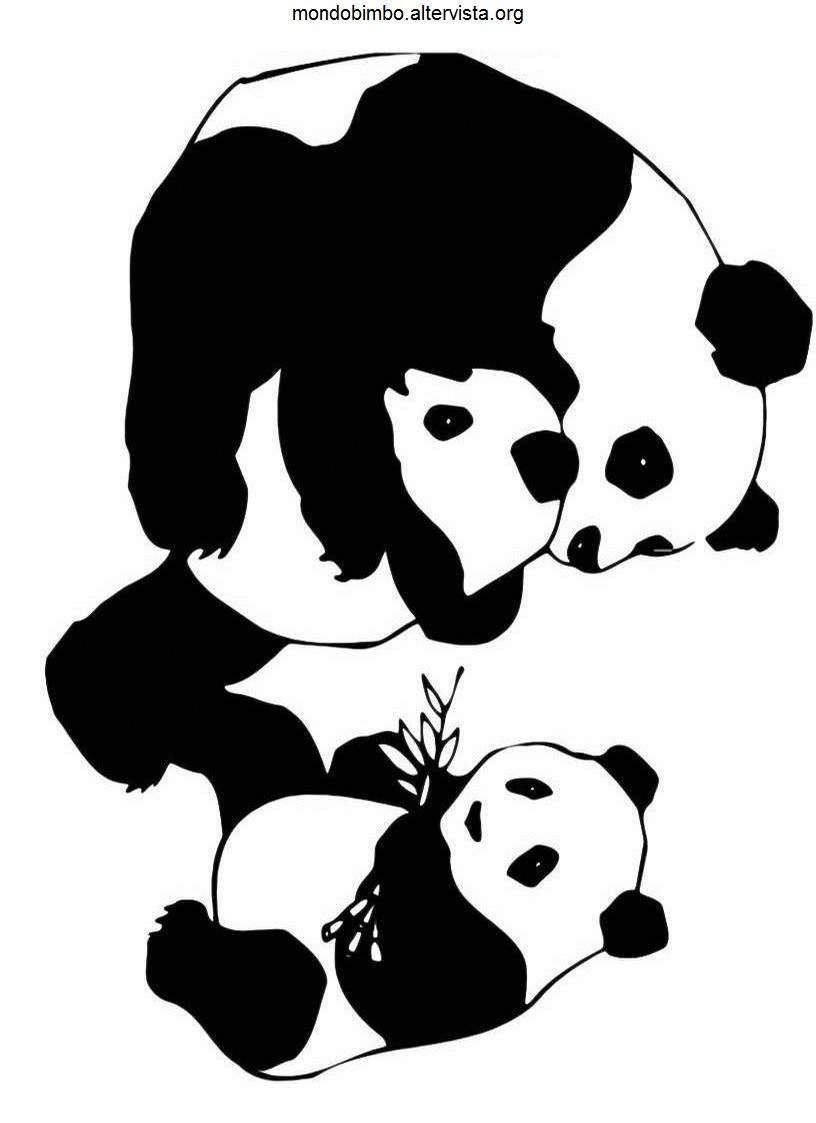 Fresco Disegni Per Cuccioli Di Panda Gia Colorati Migliori Pagine
