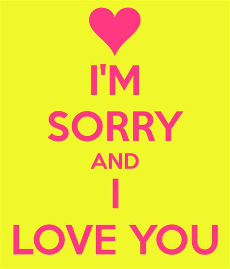 Im Sorry Love Quotes