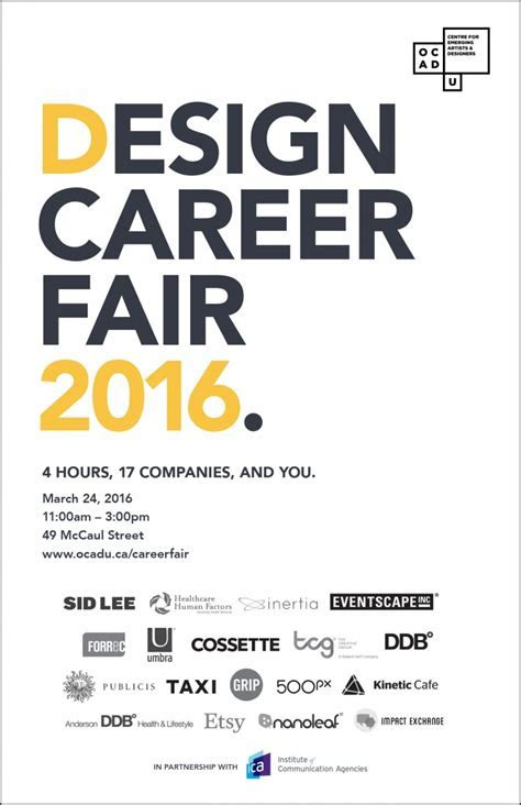Design Career Fair   OCAD UNIVERSITY