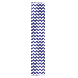Navy and White Zigzag Table Runner Short Table Runner