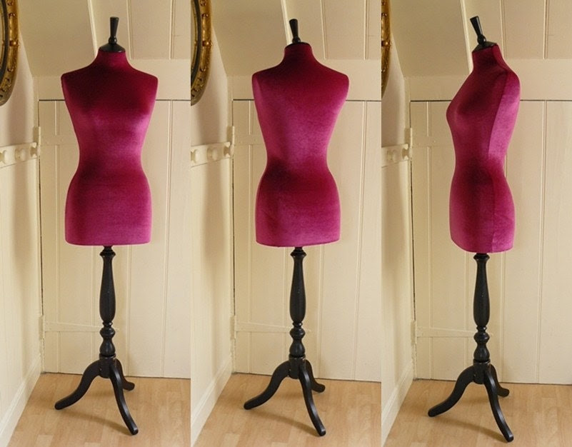 Corset Laced Mannequin Velvet PINK as seen on Gok's Clothes Roadshow