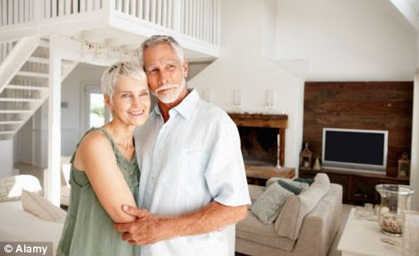 Unused space: Half of all properties owned by single pensioners have three spare bedrooms or more (picture posed by models)