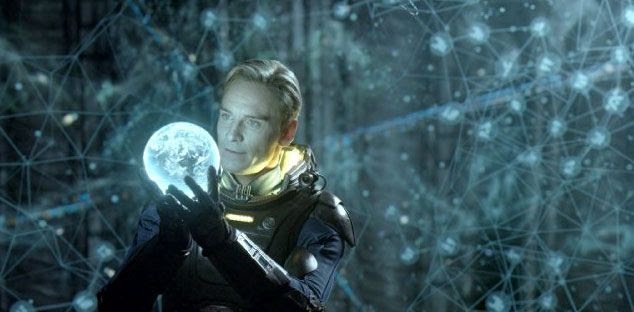 David discovers that the alien creatures, known as Engineers, have something in store for Earth in PROMETHEUS.