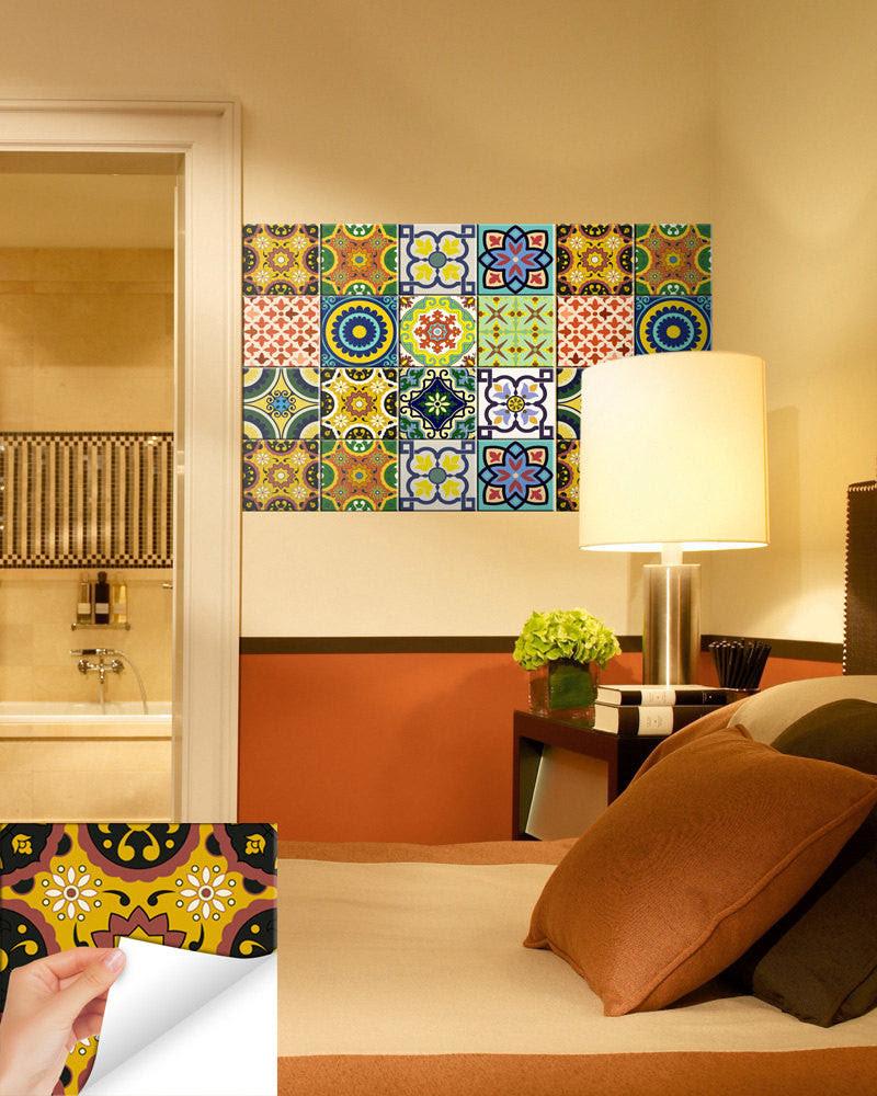 24 tile stickers kitchen idea bathroom Tiles Decals ...