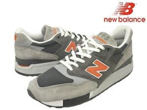 "【new balance M998】 new balance/ニューバランス M998GGO GRAY/ORANGE WIDTH:D ""MADE IN USA""..."