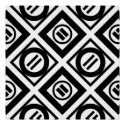 Black Equal Sign Geometric Pattern on White