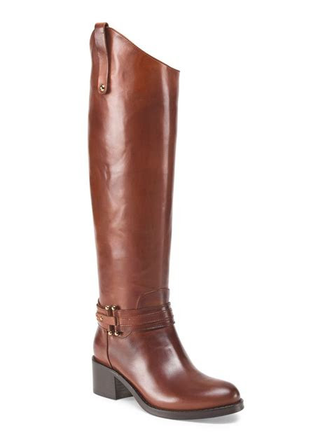 capezzani   italy leather high shaft riding boot