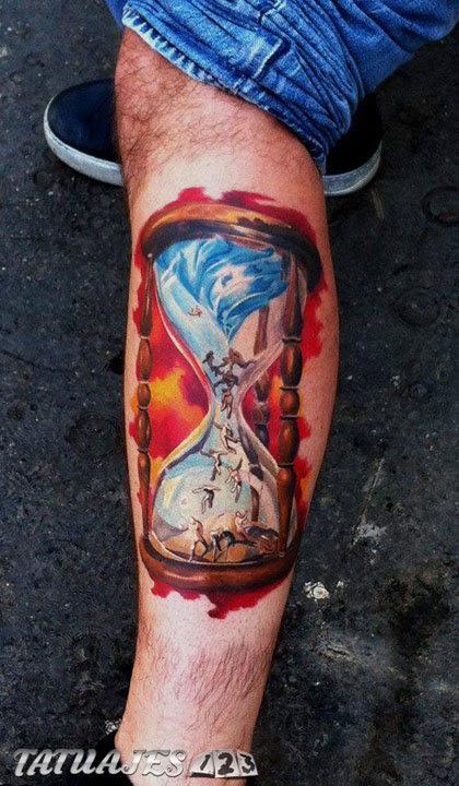 Tatuajes Con Relojes De Arena Tatuajes 123