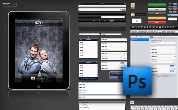 iPad GUI PSD Design Template