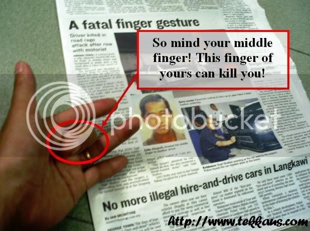 Fatal Finger Gesture