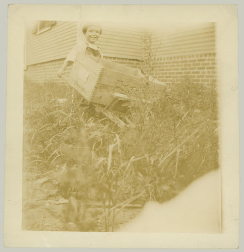 Child and wheelbarrow