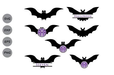 Download Halloween Bats Svg Halloween Svg Bats Monogram Svg Bats Silhouette Free