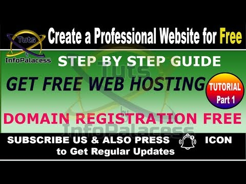 Create Professional Website With Free Web Hosting and Free Domain Registration