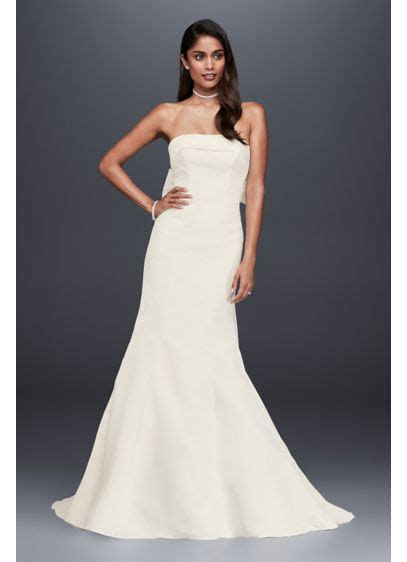 Faille Mermaid Petite Wedding Dress with Bow Back   David