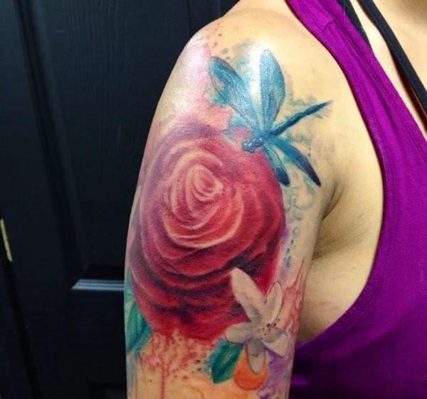 75 desenhos de tatuagem de libélula bonito e sexy 39 por Bryan