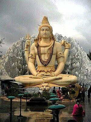 A statue of Hindu deity Shiva in a temple in B...