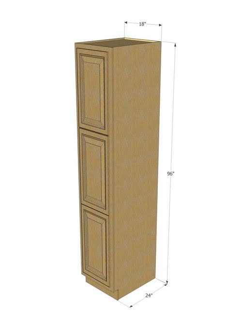 Regal Oak Pantry Cabinet Unit 18 Inch Wide x 96 Inch High ...