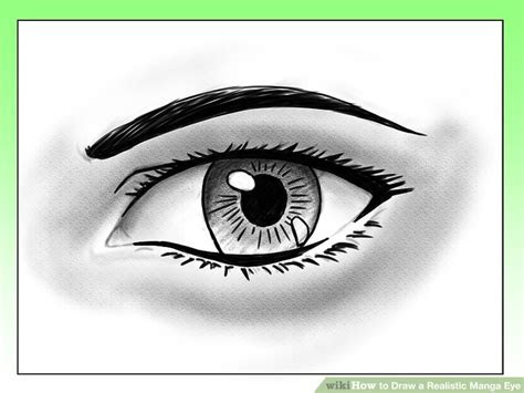 draw  realistic manga eye  steps  pictures