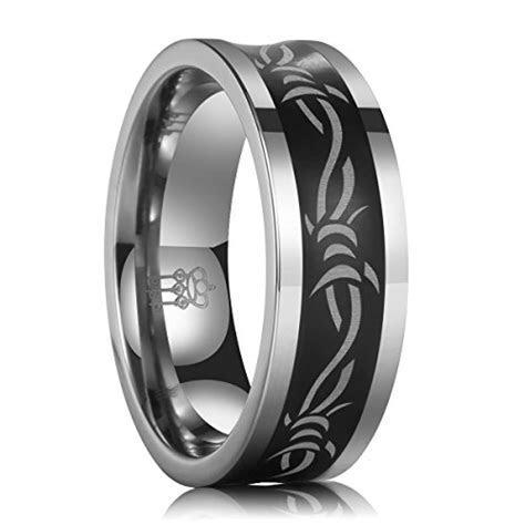Three Keys Jewelry 8mm Tungsten Carbide Ring Wedding