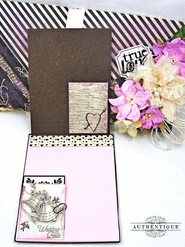 Bride and Groom Envelope Folio Always by Kathy Clement Product by Authentique Photo 9