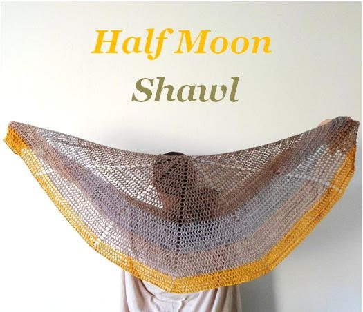 Half Moon Shawl Crochet Pattern