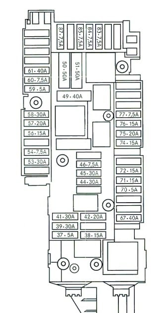Mercede C350 Fuse Box Diagram