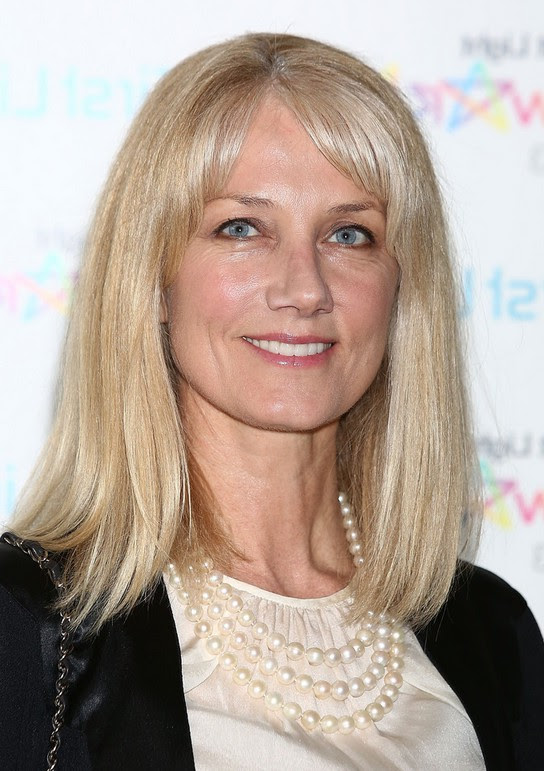 Joely Richardson Medium Straight Cut with Bangs for Women Over 50 | Styles Weekly