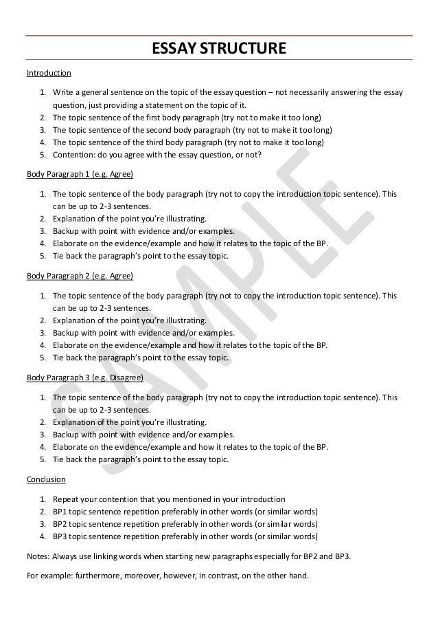 VCE English Language - Essay Structure