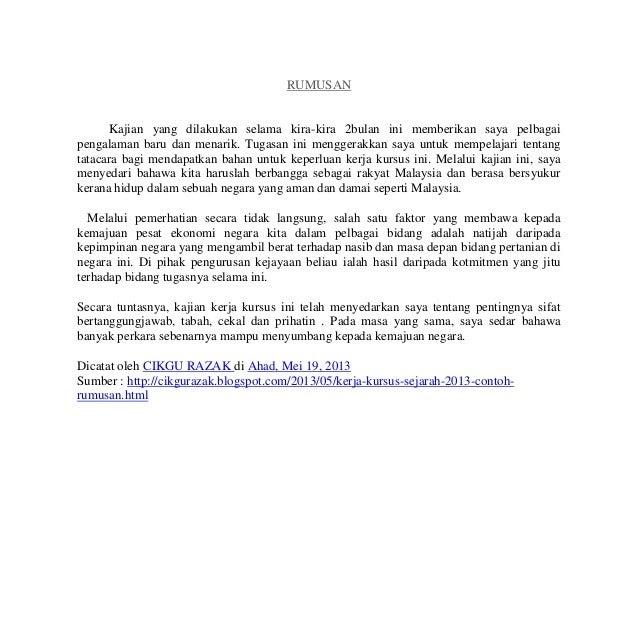 Contoh Rumusan Folio Pendidikan Moral Jawat Kos