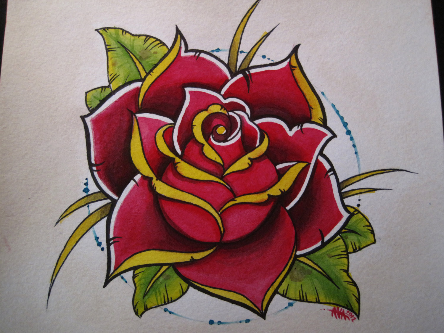 Traditional Rose Drawing At Getdrawingscom Free For Personal Use