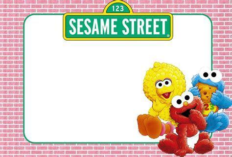 Free Printable Sesame Street Invitation Templates