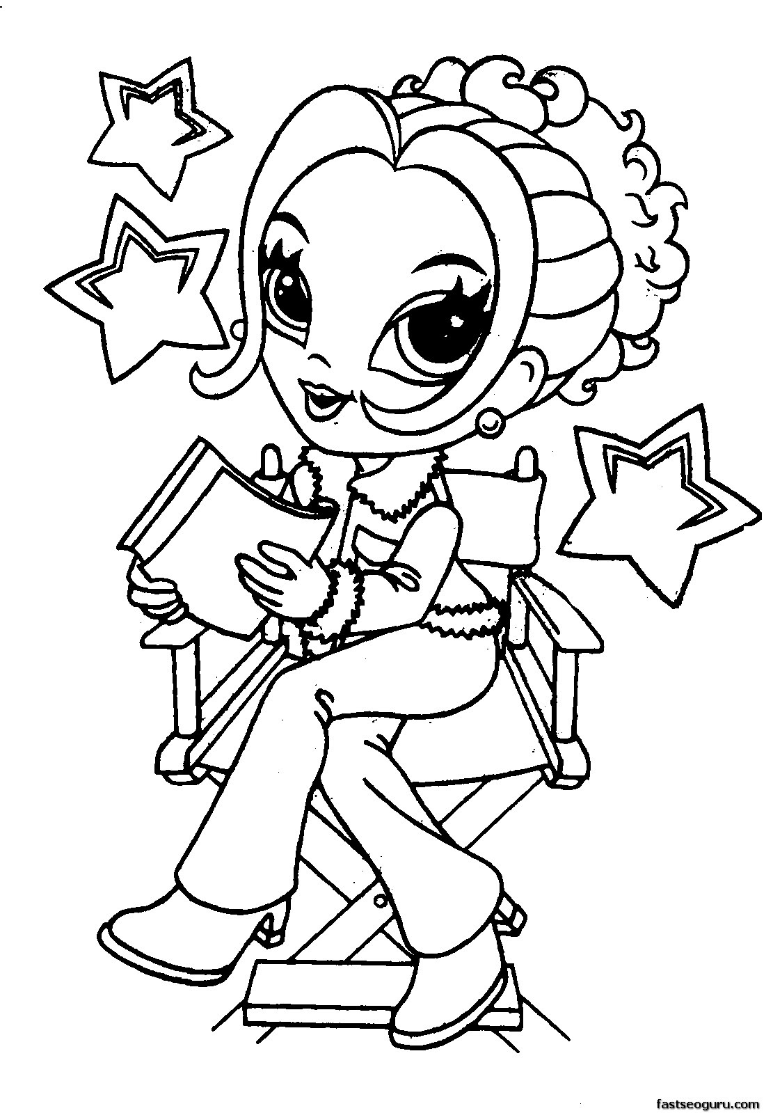 Printable Lisa Frank Coloring Pages for Girls  Printable