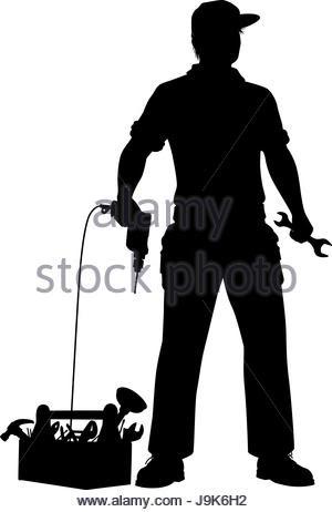 Mechanic Silhouette at GetDrawings   Free download