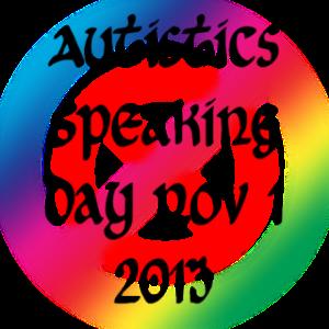 Autistics Speaking Day 2013 Participation Badge