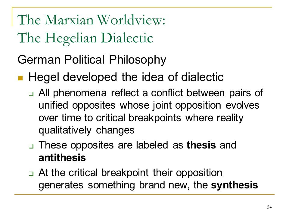These Antithese Synthese Hegel - Titre De La Thèse